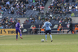 March 17, 2018 - New York, New York, United States - Ismael Tajouri (29) of NYC FC controls ball during regular MLS game against Orlando City SC at Yankee stadium NYC FC won 2 - 0  (Credit Image: © Lev Radin/Pacific Press via ZUMA Wire)