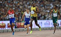26-08-2015 CHN: IAAF World Championships Athletics day 5, Beijing<br /> Usain Bolt and Anaso Jobowana at 200 m Men<br /> Photo by Ronald Hoogendoorn / Sportida