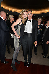 MARTHA FIENNES and TOMAS AUKSAS at a dinner hosted by Liberatum to honour Francis Ford Coppola held at the Bulgari Hotel & Residences, 171 Knightsbridge, London on 17th November 2014.