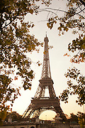 The Eiffel Tower, the iconic landmark in Paris, France