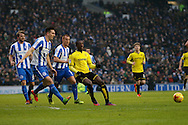 Burton Albion striker Marvin Sordell (9) during the EFL Sky Bet Championship match between Brighton and Hove Albion and Burton Albion at the American Express Community Stadium, Brighton and Hove, England on 11 February 2017. Photo by Richard Holmes.