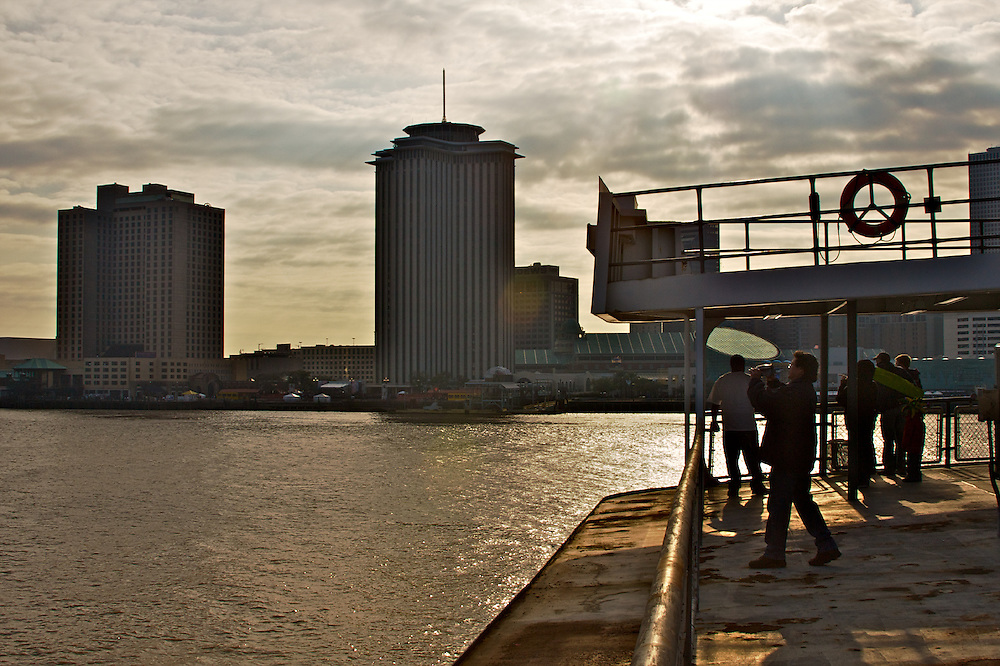 On the Algiers-Canal St. Ferry, View Toward East Bank, New Orleans, Louisiana, USA