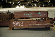 Artifacts chosen by curators out of the wreckage  from the World Trade Center  stored within an 80,000 square foot hanger at JFK airport. Some of the artifacts will be in the National September 11 Memorial Museum set to open in 2012.