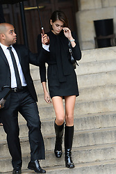 Kaia Gerber leaving the funeral service for late photographer Peter Lindbergh held at Saint Sulpice church in Paris, France on September 24, 2019. Photo by ABACAPRESS.COM