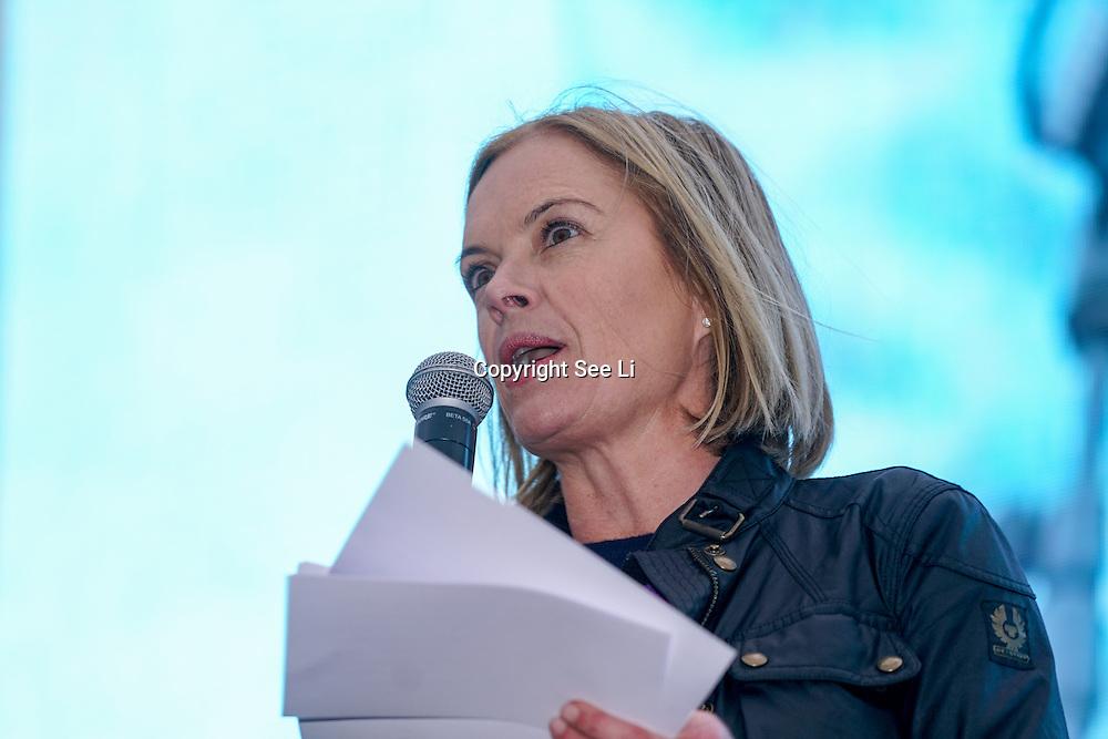Speaker Mariella Frostrup attends The Salesman, Trafalgar Square,London,UK. by See Li