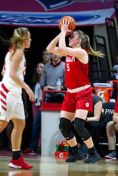 NORMAL, IL - February 07:  Chelsea Brackmann during a college women's basketball game between the ISU Redbirds and the Braves of Bradley University February 07 2020 at Redbird Arena in Normal, IL. (Photo by Alan Look)