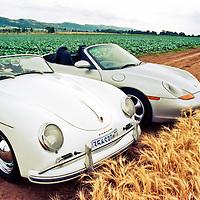 Porsche Boxster (1997) (right) and Porsche 356 A Speedster (1958) (left), Magaliesburg, South Africa, 1997