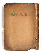 front page of a deteriorating notebook