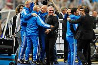 FOOTBALL - FRENCH LEAGUE CUP 2010/2011 - FINAL - OLYMPIQUE MARSEILLE v MONTPELLIER HSC - 23/04/2014 - PHOTO GUY JEFFROY / DPPI - JOY DIDIER DESCHAMPS (OM)