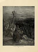The True Cross Plate LXV from the book Story of the crusades. with a magnificent gallery of one hundred full-page engravings by the world-renowned artist, Gustave Doré [Gustave Dore] by Boyd, James P. (James Penny), 1836-1910. Published in Philadelphia 1892