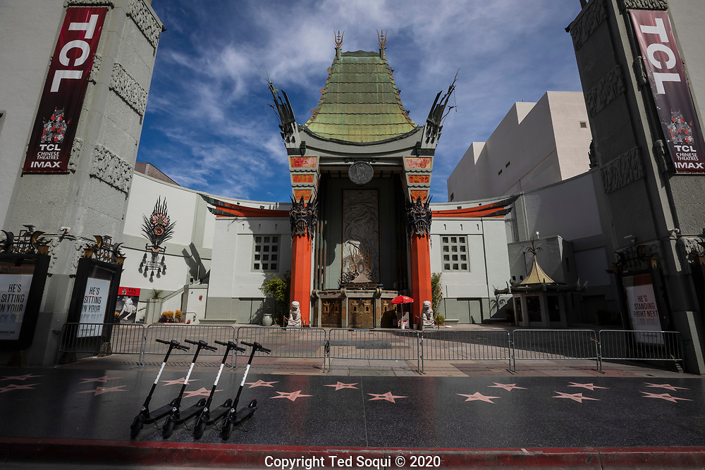 Businesses and streets in Los Angeles are turning in to ghost towns due to tourist and residents out of concerns of contracting the Covid19 virus.<br /> 3/18/2020 Los Angeles, CA USA<br /> (Photo by Ted Soqui/SIPA USA)