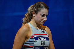 Laura De Witte in action on the 400 meters during limit matches to be held simultaneously with the Dutch Athletics Championships on 13 February 2021 in Apeldoorn