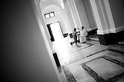 A priest admits a faithful