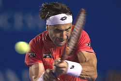 Spain's David Ferrer returns the ball during the men's singles match against Australia's Bernard Tomic at the Abierto Mexicano Telcel tennis tournament in Acapulco, Guerrero, Mexico, Feb. 26, 2015. Ferrer won 2-1. EXPA Pictures © 2015, PhotoCredit: EXPA/ Photoshot/ Alejandro Ayala<br /> <br /> *****ATTENTION - for AUT, SLO, CRO, SRB, BIH, MAZ only*****