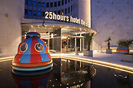 hotel 25hours The Circle at the Gerling Quartier, the building is the former headquarters of the Gerling insurance group, Cologne, Germany.<br /> <br /> Hotel 25hours The Circle im Gerling Quartier, der ehemalige Hauptsitz der Gerling Versicherungsgruppe, Koeln, Deutschland.