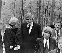 October 31, 1990 - Zlin, CESKOSLOVENSKO - Donald Trump (centre) and his wife Ivana  (left) arrive at a funeral service for Milos Zelnicek, father of Ivana Trump in Zlin, Czechoslovakia, October 31, 1990. (Credit Image: © CTK via ZUMA Press)