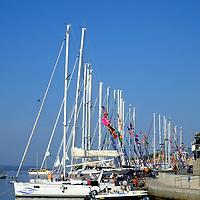 Sailing boats in the harbour;<br />Bol, Brac, Croatia.