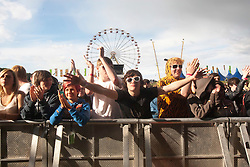The crowd as Brother play the main stage at Rockness 2011..Pic ©2011 Michael Schofield. All Rights Reserved..