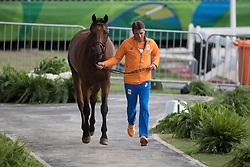 Dubbeldam Jeroen, NED, SFN Zenith NOP<br /> Horse Inspection<br /> Olympic Games Rio 2016<br /> © Hippo Foto - Dirk Caremans<br /> 12/08/16