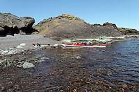 Kayaks at Rauder, Oslofjorden - Kajakker på stranda på Rauder - Oslofjorden