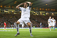 Artem Dzyuba of Russia (22) (Zenit St Petersburg) celebrates his goal 1-1 during the UEFA European 2020 Qualifier match between Scotland and Russia at Hampden Park, Glasgow, United Kingdom on 6 September 2019.