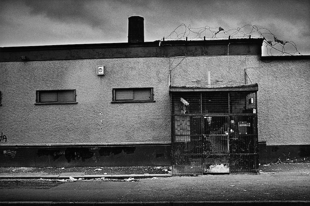 No mans land catholique entre Falls et Shankill, Nord-Belfast.