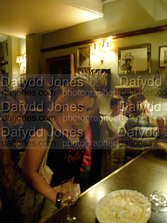 Jen Ogilvie, Belle de Jour - book launch party. 2 Brydges Place. WC2. 20 January 2005. <br />ONE TIME USE ONLY - DO NOT ARCHIVE  © Copyright Photograph by Dafydd Jones 66 Stockwell Park Rd. London SW9 0DA Tel 020 7733 0108 www.dafjones.com