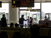 waiting in the departing hall at the airport in Beijing China