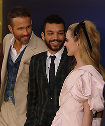 May 2, 2019 - New York City, New York, U.S. - Actors RYAN REYNOLDS, JUSTICE SMITH and KATHRYN NEWTON attend the US premiere of Pokemon Detective Pikachu held at Military Island Times Square. (Credit Image: © Nancy Kaszerman/ZUMA Wire)