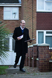 © Licensed to London News Pictures . 17/11/2014 . Kent , UK . UKIP candidate Mark Reckless canvassing votes in Strood in the Rochester and Strood by-election . They meet Fatima Macaulay (right) who says she's voting UKIP . Photo credit : Joel Goodman/LNP
