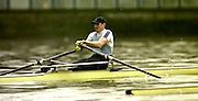 © 2000 All Rights Reserved - Peter Spurrier Sports Photo. <br /> <br /> Iztok Cop. 20010301 Thames World Sculling Challenge, Putney, London