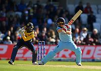 Cricket - 2019 ICC Cricket World Cup - Group Stage: England vs. Sri Lanka<br /> <br /> England's Chris Woakes caught behind by Sri Lanka's Kusal Perera off the bowling of Dhananjaya de Silva, at Headingley, Leeds<br /> <br /> COLORSPORT/ASHLEY WESTERN