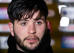 Cian Harries of Bristol Rovers talks to the press after the final whistle of the match - Mandatory by-line: Ryan Hiscott/JMP - 12/01/2021 - FOOTBALL - Memorial Stadium - Bristol, England - Bristol Rovers v AFC Wimbledon - Papa John's Trophy