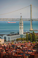 Ferry Building & Bay Bridge, Embarcadero