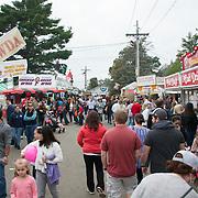 Crowds at the annual fair in Topsfifeld, MA