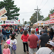 Crowds at the annual fair in Topsfifeld, MA