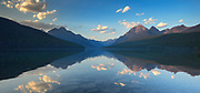 A evening on Bowman lake in Glacier National Park