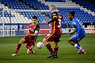 Bradford City defender Anthony O'Connor (6)  clears this one during  the The FA Cup 2nd round match between Peterborough United and Bradford City at London Road, Peterborough, England on 1 December 2018.