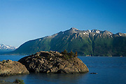 Beluga Point, Turnagain Arm on Cook Inlet, near Anchorage, Alaska. This is a common beluga spotting location - but the Cook Inlet belugas are under threat from hunting and pollution, and it's hard to find belugas these days. ..