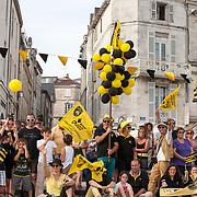 Parade du Stade Rochelais dans le vieux port suis à la demi finale perdue face au RCT