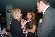 CAMILLA LONG; JEMIMA KHAN; ZAC GOLDSMITH, Party to celebrate the publication of 'Winter Games' by Rachel Johnson. the Draft House, Tower Bridge. London. 1 November 2012.