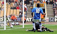 Photo: Paul Thomas.<br /> Wolverhampton Wanderers v Birmingham City. Coca Cola Championship. 22/04/2007.<br /> <br /> Cameron Jerome (10) scores for Birmingham.