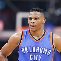 21 December 2015: Oklahoma City Thunder guard Russell Westbrook (0) is seen during the Oklahoma City Thunder 100-99 victory over the Los Angeles Clippers, at the Staples Center, Los Angeles, California, USA.