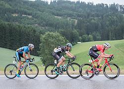 25.06.2017, Grein an der Donau, AUT, Rad Strassen Staatsmeisterschaft Elite Herren, 2017, Grein an der Donau, Oberösterreich im Bild v.l. Markus Eibegger (AUT, Team Felbermayr Simplon Wels) , Lukas Pöstlberger (AUT, Bora - Hansgrohe), Michael Gogl (AUT, Trek - Segafredo) // during cycling road championship, Grein an der Donau, Oberöstereich at 2017/06/25. EXPA Pictures © 2017, PhotoCredit: EXPA/ R. Eisenbauer