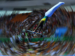 SHENZHEN, Aug. 14, 2011  Ngcongo Lindokuhle of South Africa competes during the men's team competition finals at the 26th Summer Universiade in Shenzhen, a city of south China's Guangdong Province, Aug. 14, 2011. (Xinhua/Gong Lei) (Credit Image: © Xinhua via ZUMA Wire)