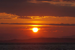 Sunset from San Juan County Park, San Juan Island, Washington, US