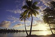 Sunset, Tetiaroa, French Polynesia<br />