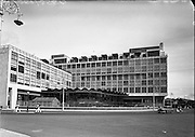 Architecture - CIE Bus Station at Store St, Dublin. Interior and Exterior.03/07/1953