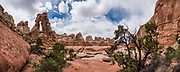Druid Arch, in the Needles District of Canyonlands National Park. Monticello, Utah, USA. This image was stitched from multiple overlapping photos.