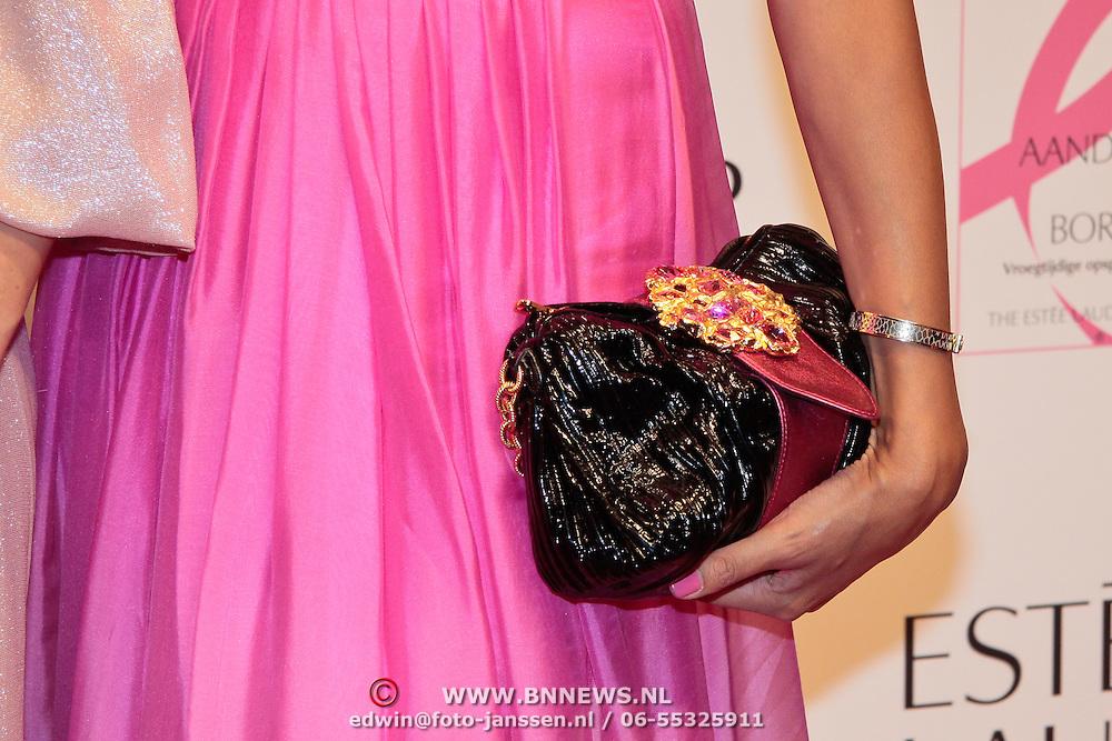 NLD/Amsterdam/20110929 - Inloop Estee Lauder Pink Ribbon Award Gala 2011 in de Beurs van Berlage, Tasje Maria Tailor